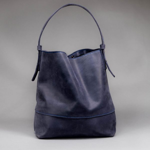 fashion blue leather bag