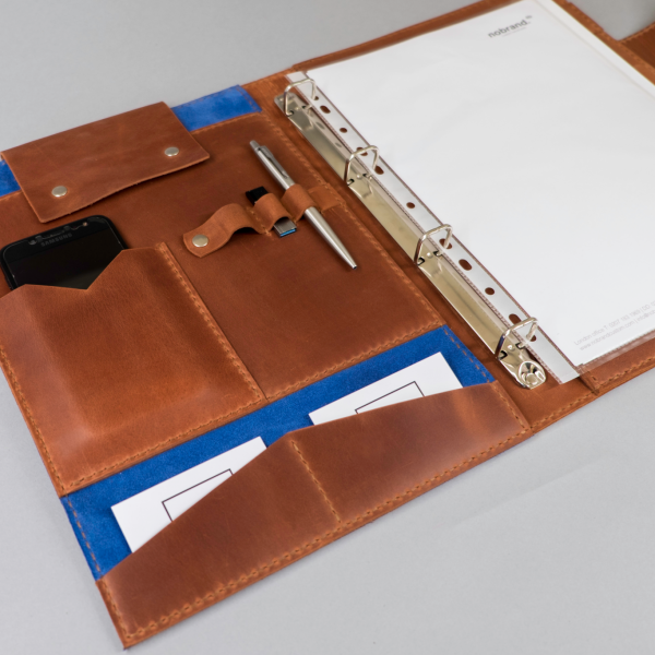 leather ring binder folio