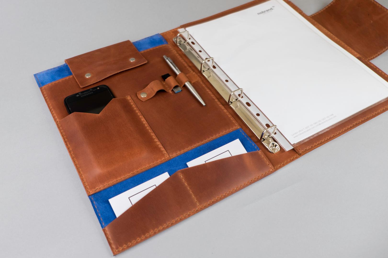 leather ring binder folio