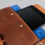 leather and suede ipad sleeve