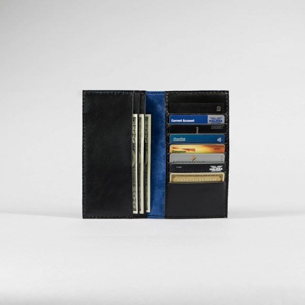coat wallet black leather