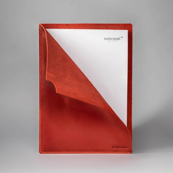 red document sleeve