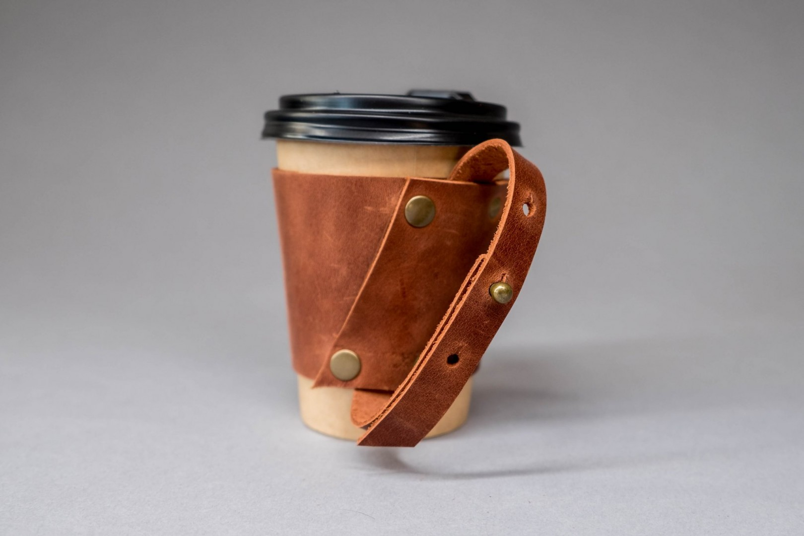 leather cup sleeve