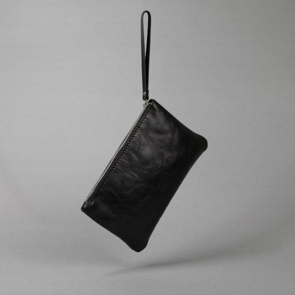 leather wrist bag