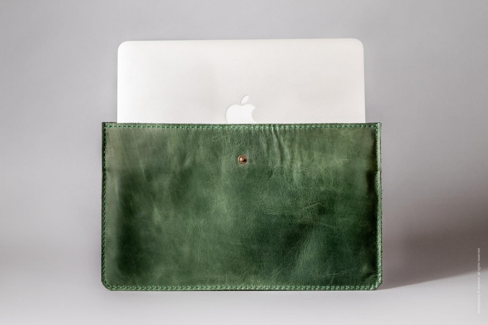 green macbook air sleeve